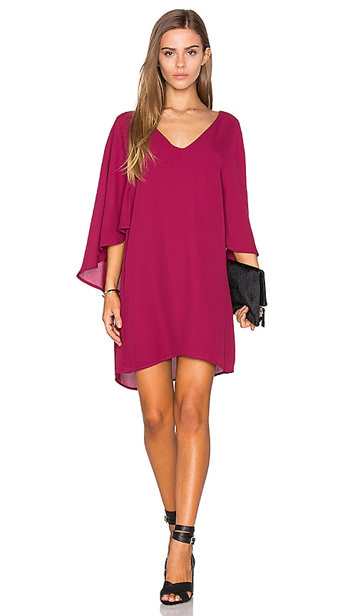 cupcakes and cashmere Suki Dress in Burgundy