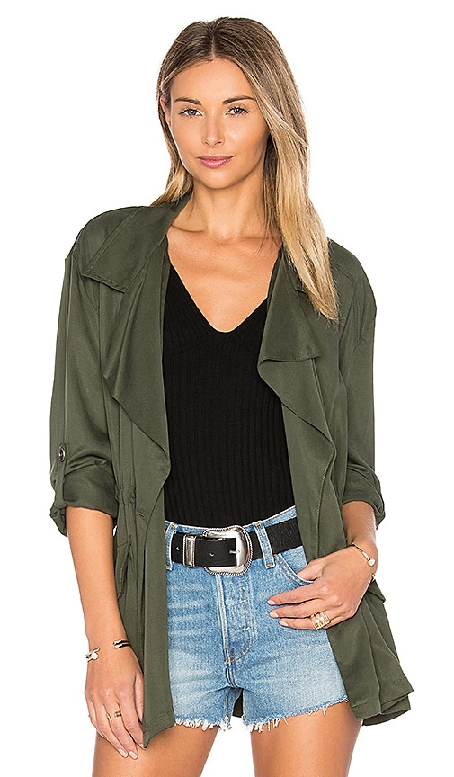 cupcakes and cashmere Belinda Jacket in Army