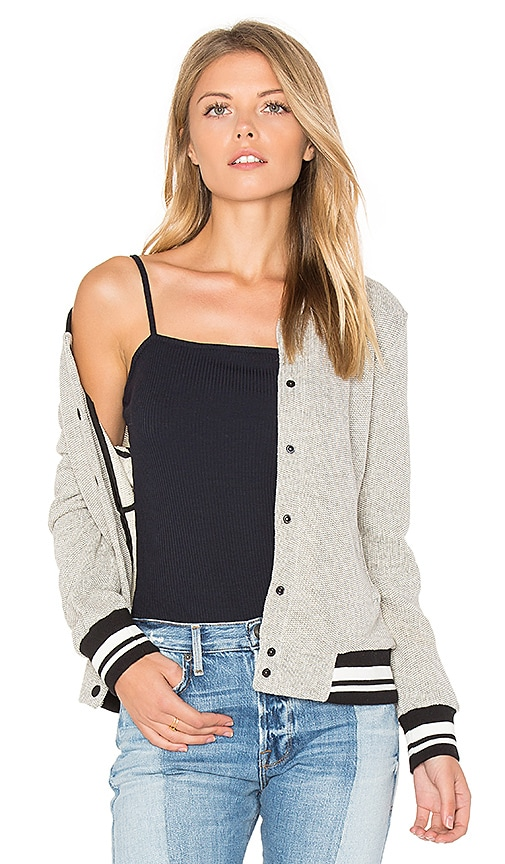 cupcakes and cashmere Carlton Bomber Jacket in Gray