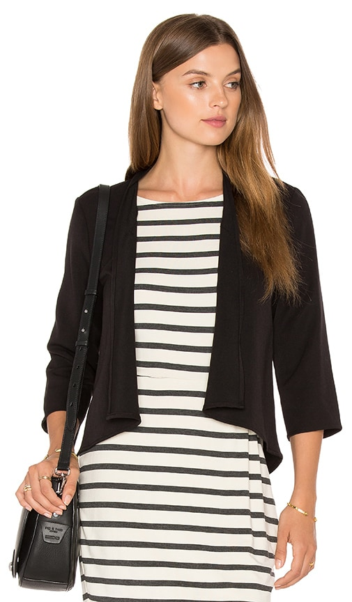 cupcakes and cashmere Kali Blazer in Black