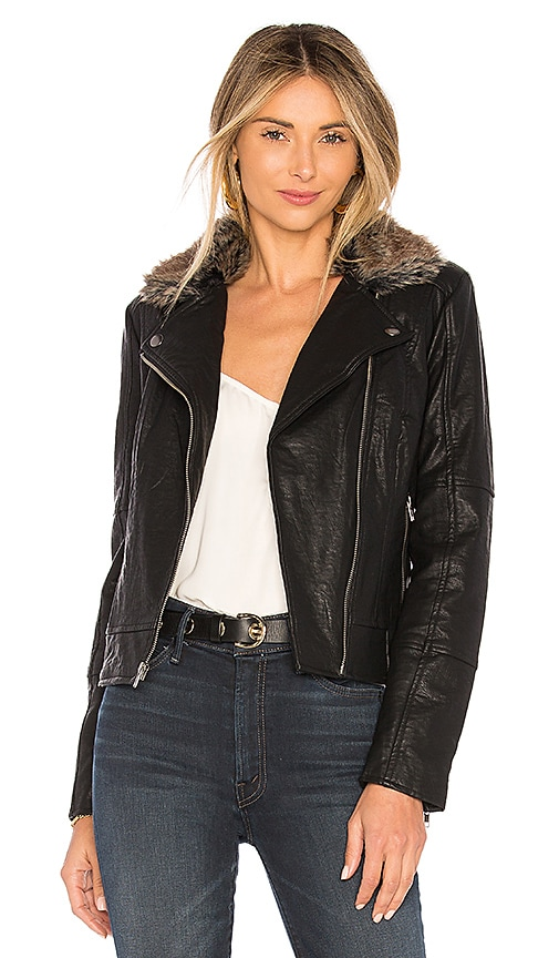 cupcakes and cashmere Dita Moto Jacket in Black