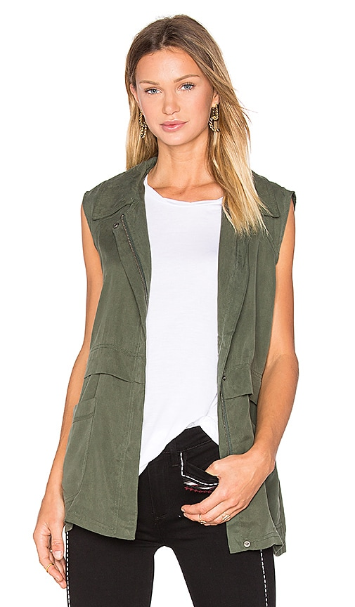 cupcakes and cashmere Adison Vest in Army