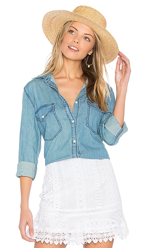 cupcakes and cashmere Catalina Shirt in Blue