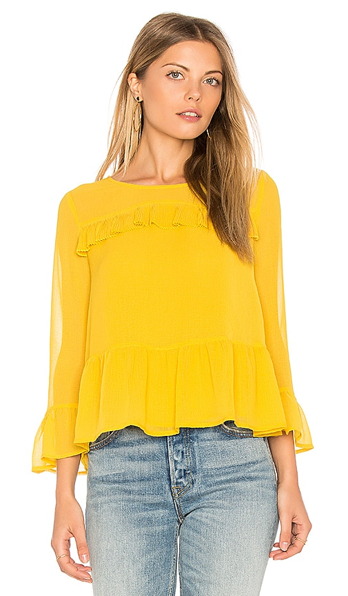 cupcakes and cashmere Katlyn Top in Yellow