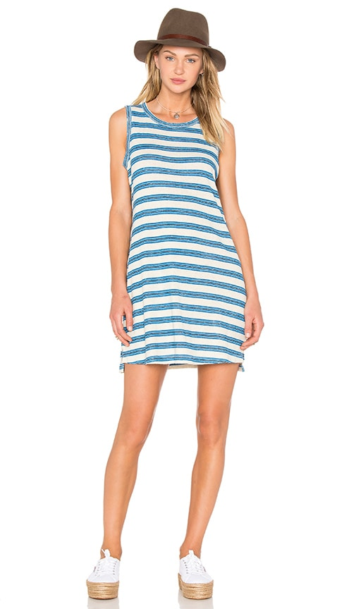 Current/Elliott The Muscle Tee Dress in Blue