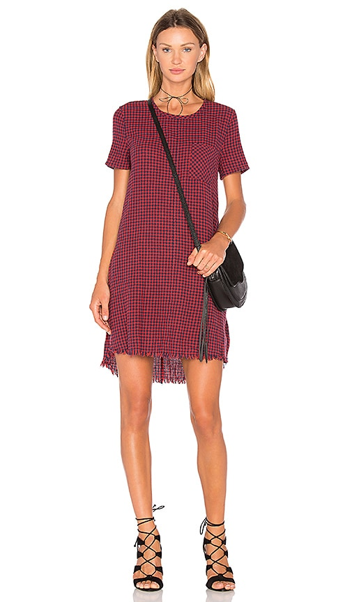 Current/Elliott The Fray Edge Shift Dress in Red