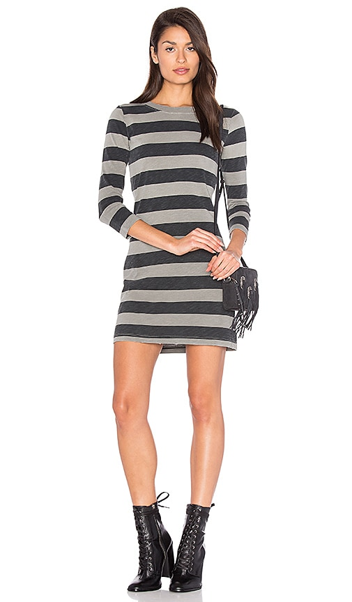 Current/Elliott The 3/4 Sleeve Dress in Gray