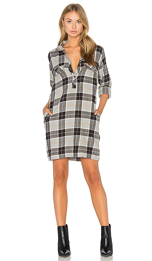 Current/Elliott The Lara Shirt Dress in Gray