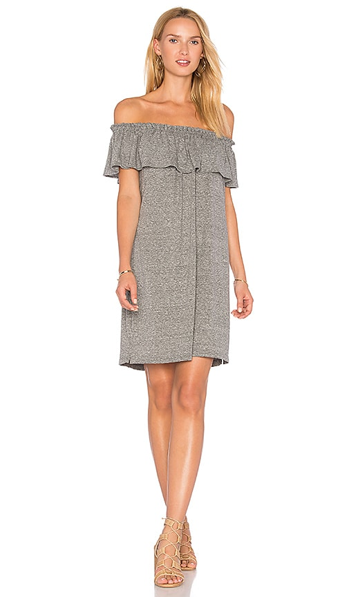 Current/Elliott The Ruffle Dress in Gray