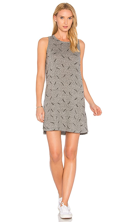 Current/Elliott The Muscle Tee Dress in Gray