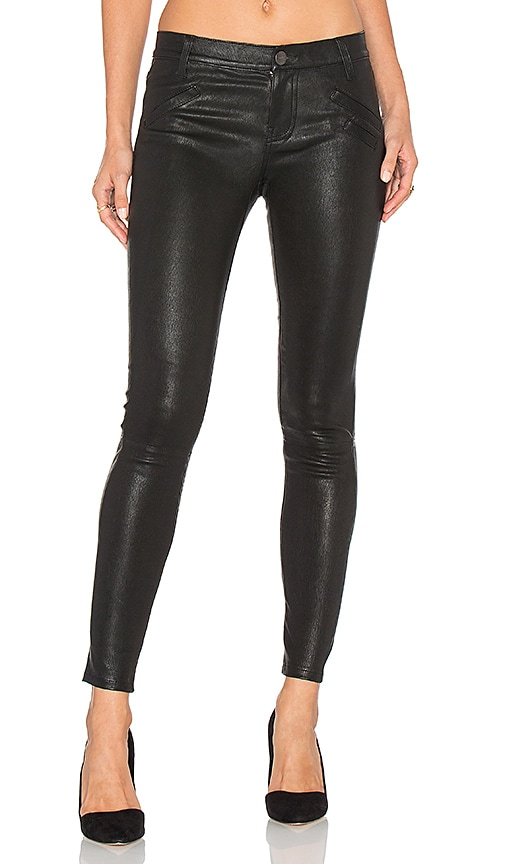 Current/Elliott The Welt Pocket Ankle Skinny in Black