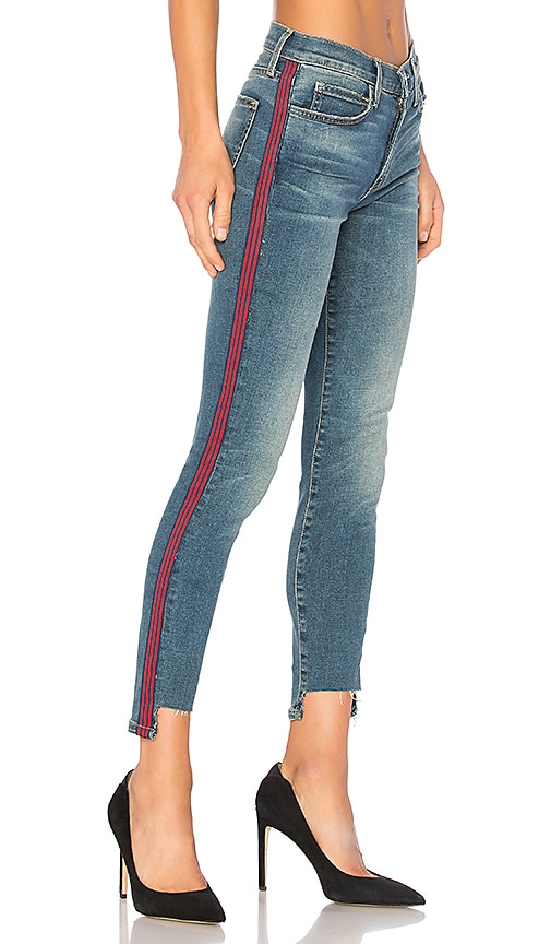 Current/elliott Woman High-rise Skinny Jeans Antique Rose Size 26 Current Elliott