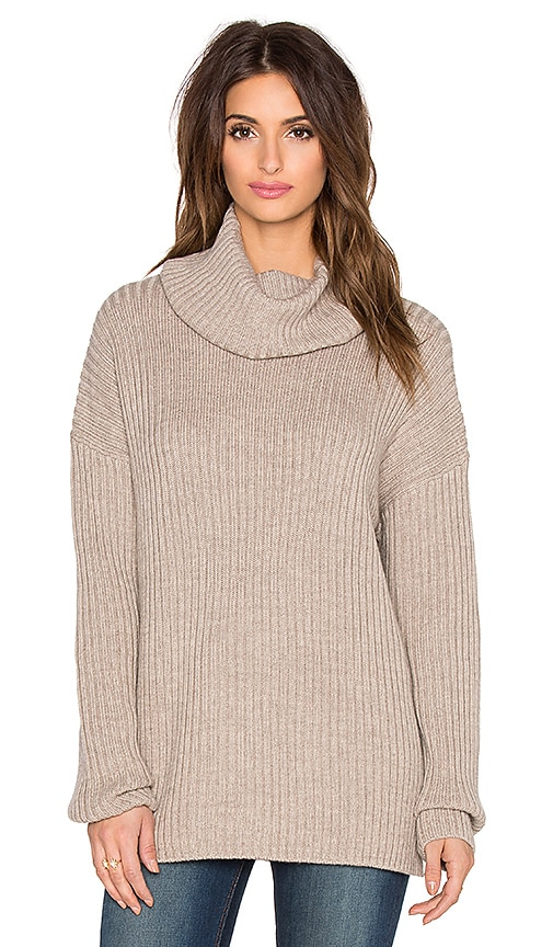 Current/Elliott The Turtleneck Sweater in Marled Porcupine