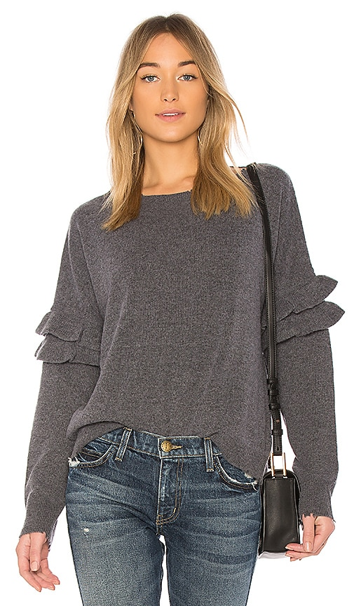 Current/Elliott The Ruffle Sweater in Gray