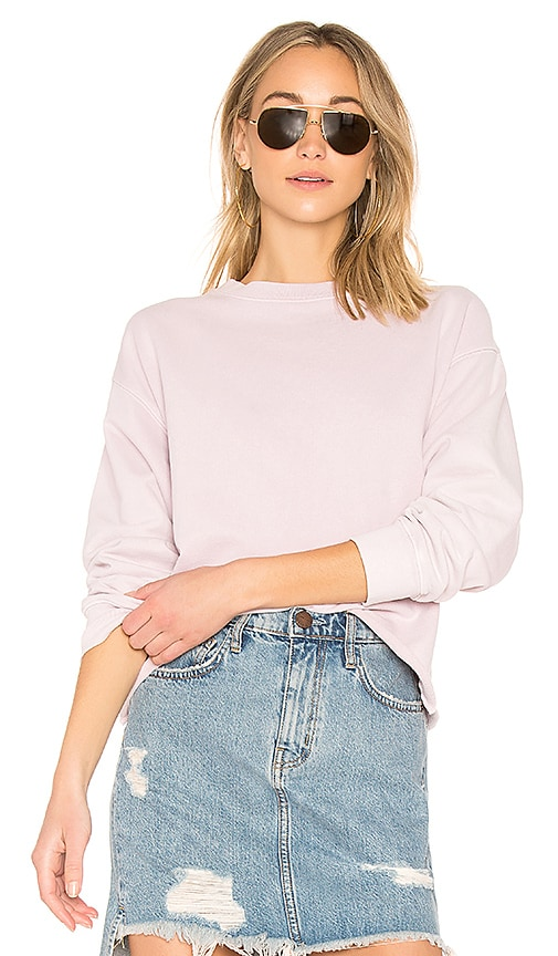 Current/Elliott The Slouchy Crop Sweatshirt in Pink