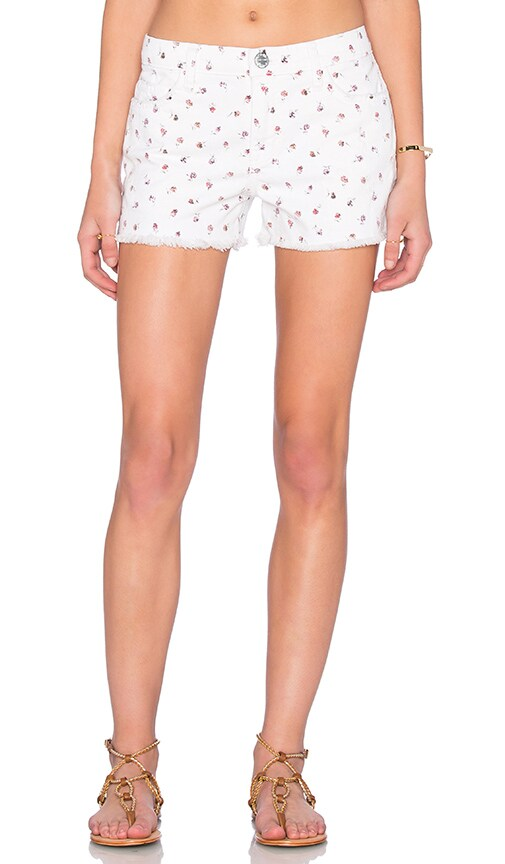 Current/Elliott The Girlfriend Short in Rose Ditsy Destroy