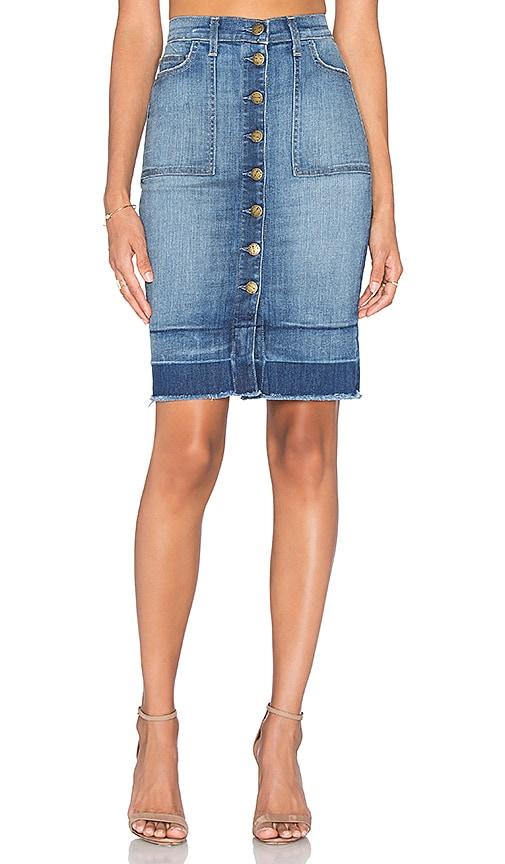 Current/Elliott The Dotty Pocket Skirt in Doubledutch