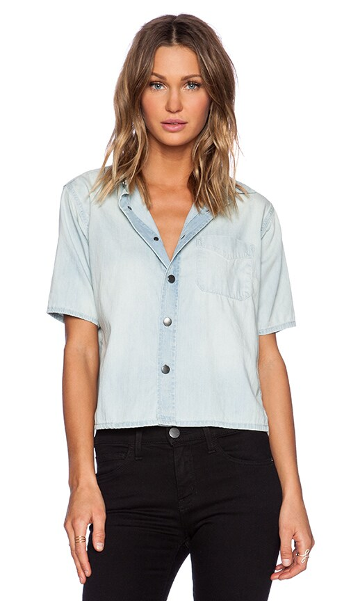 Current/Elliott The Costa Shirt in Sun Bleach Blue
