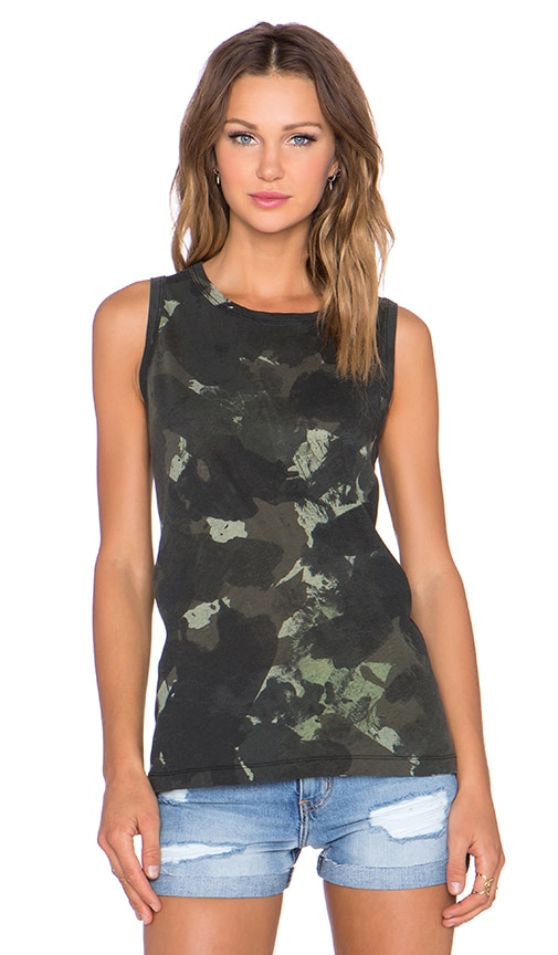 Current/Elliott The Muscle Tank in Watercolor Camo