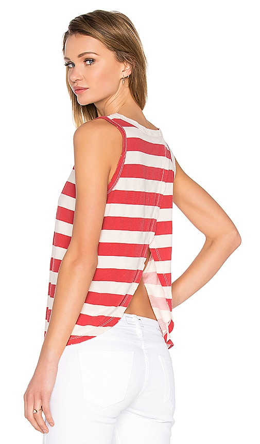 Current/Elliott The Cross Back Muscle Tank in Red