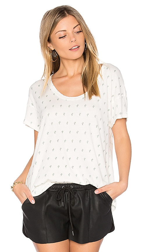 Current/Elliott The Slouchy Scoop Tee in White