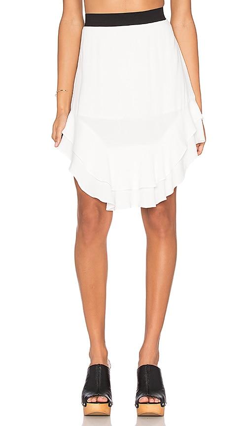 custommade Marcella Ruffle Skirt in Whisper White