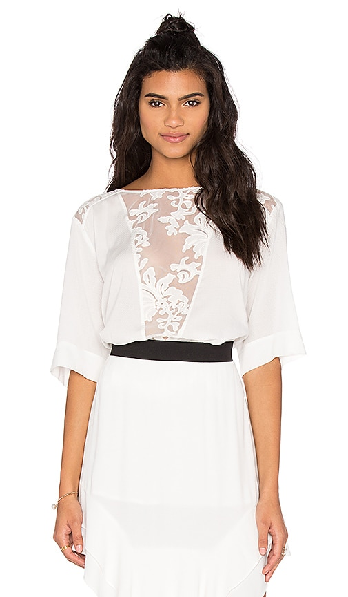 custommade Pauline Lace Top in Whisper White