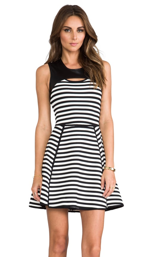 Bold Stripe Techno Dress