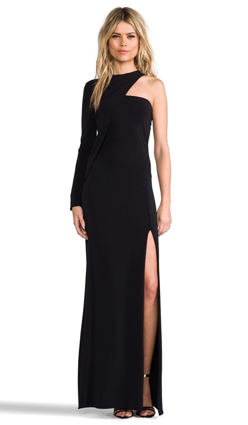One Shoulder Long Sleeve Gown