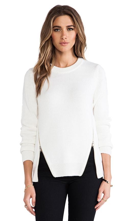 Crewneck Side Zipper Sweater