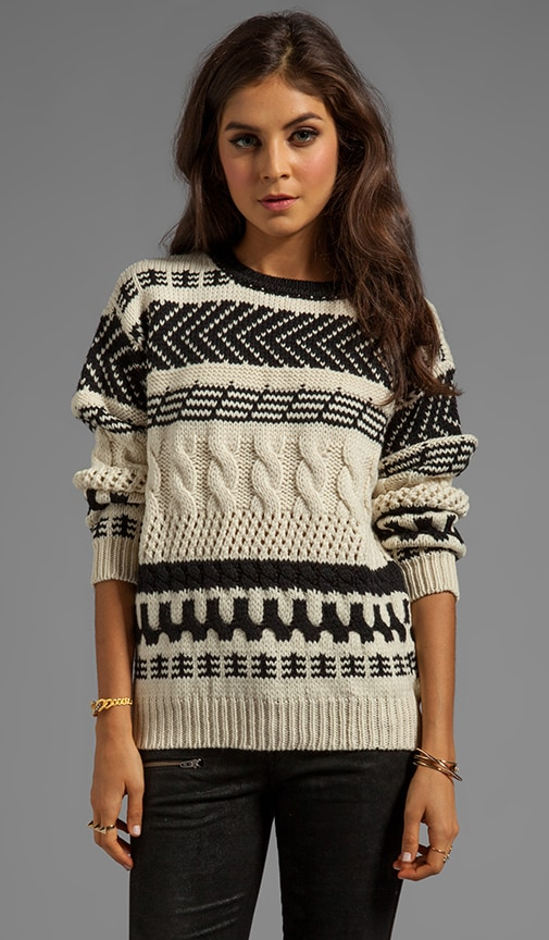 Arrow Cable Chunky Sweater