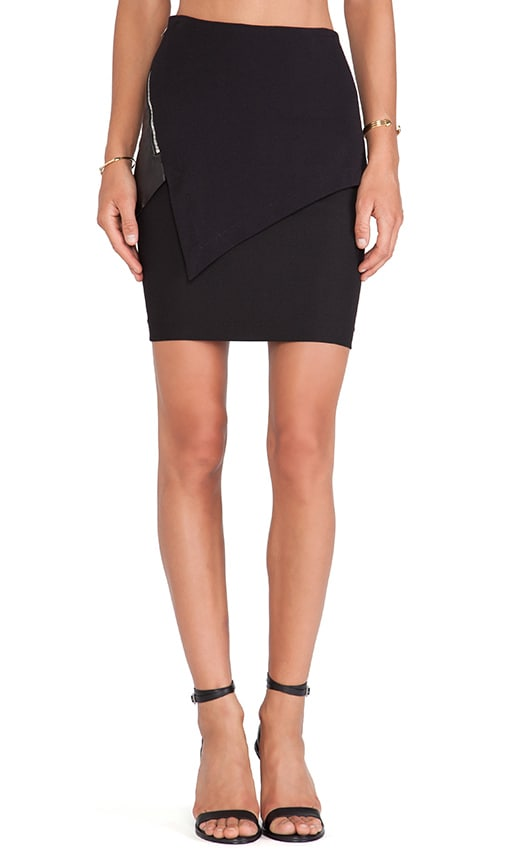 Asymmetric Paneled Skirt