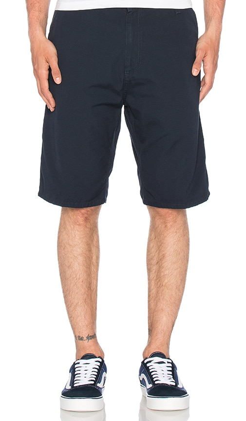 Carhartt WIP Ruck Single Knee Short in Navy
