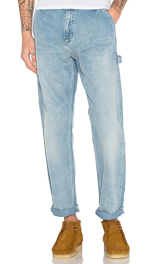 Carhartt WIP Ruck Single Knee Pants in Blue True Bleached