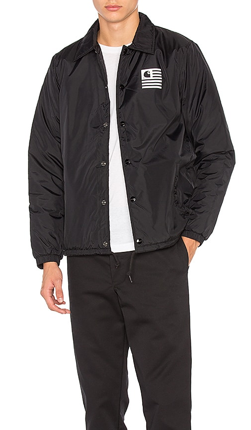 Carhartt WIP State Pile Coach Jacket in Black
