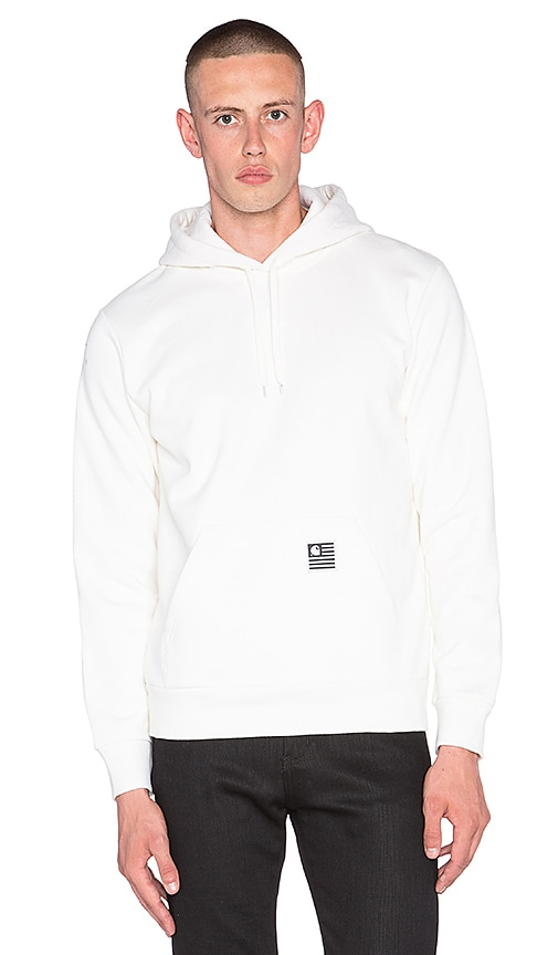 Carhartt WIP State Flag Hoodie in Snow & Black