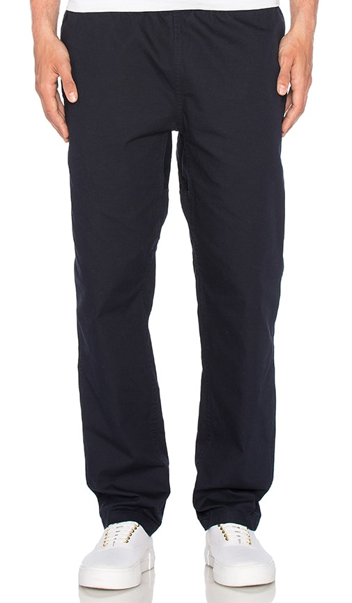 Carhartt WIP Colton Clip Pant in Dark Navy & Arrow Jacquard