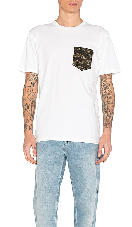 Carhartt WIP Lester Pocket Tee in White