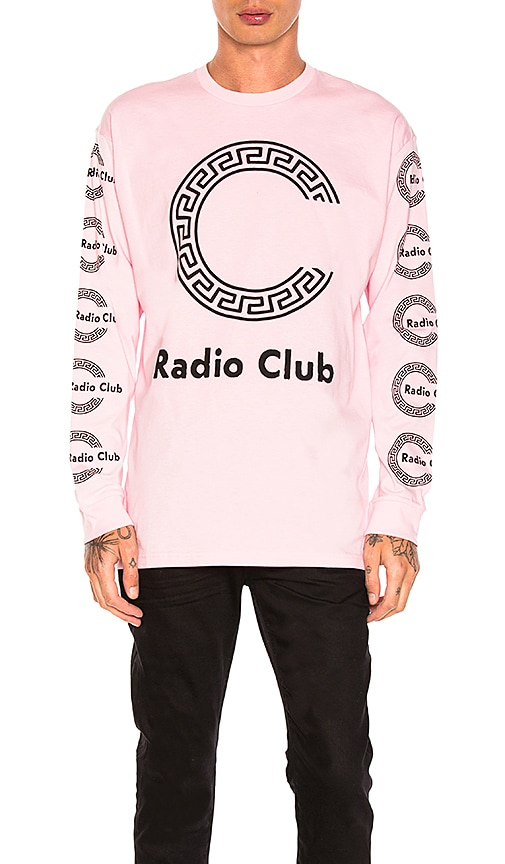 Carhartt WIP Radio Club Roma Tee in Pink