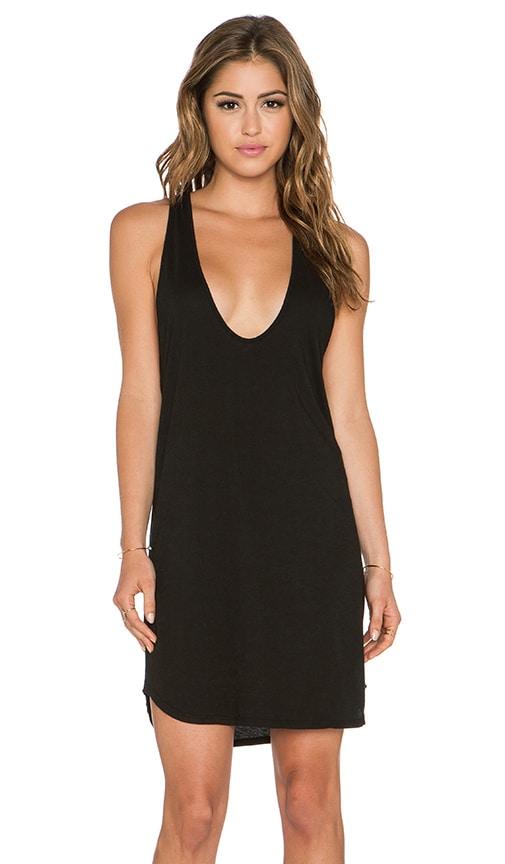 Daftbird Low Scoop Tank Dress in Black