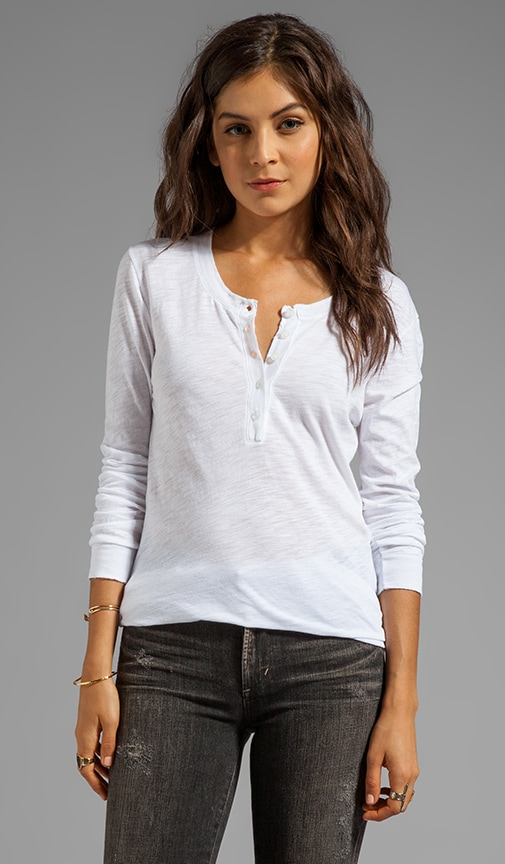 Detailed Henley Long Sleeve Tee