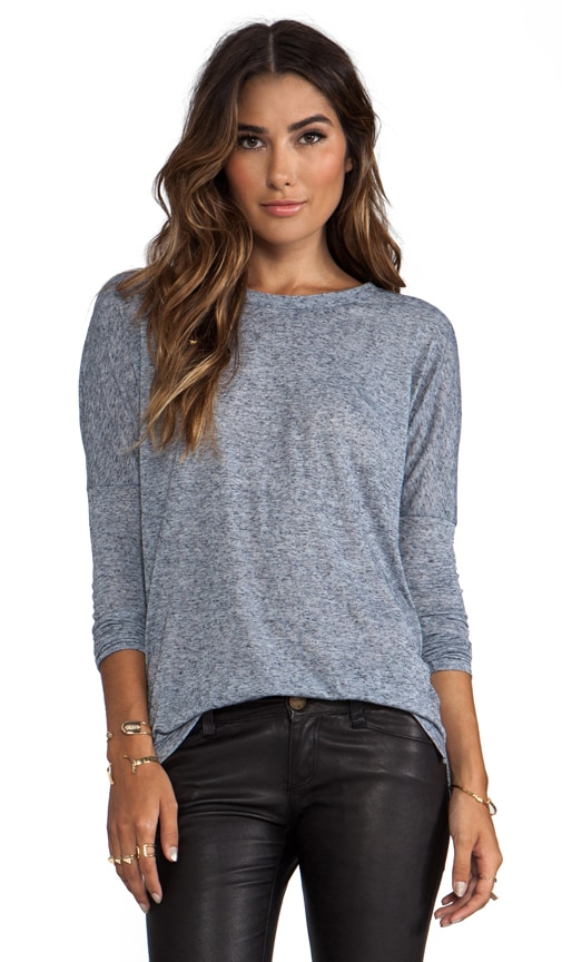 Scoop Neck Fitted Long Sleeve Tee