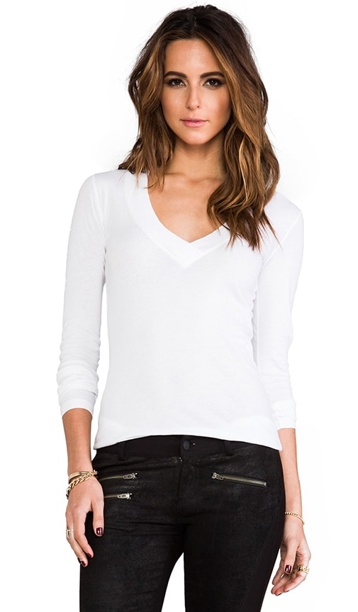 Deep V Long Sleeve Tee