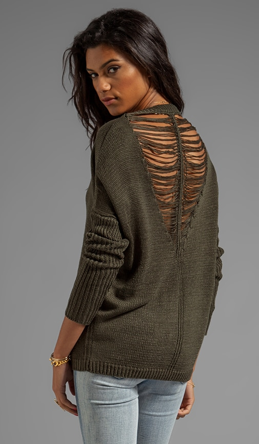 Adara Drape Yarn Back Sweater