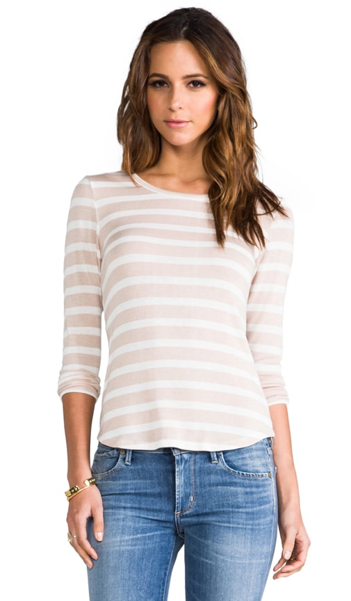 Sadi Stripe Shirt Tail Long Sleeve Tee