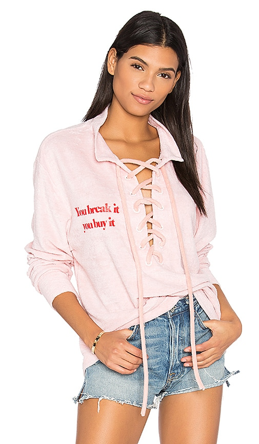 Daydream Nation Beach Dream Break It, You Buy It Pullover in Pink