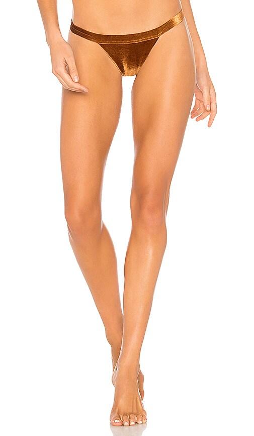 DBRIE Gigi Bikini Bottom in Metallic Copper