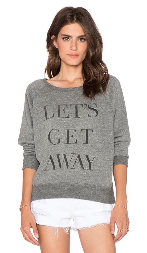 DAYDREAMER Let's Get Away Sweatshirt in Heather Grey