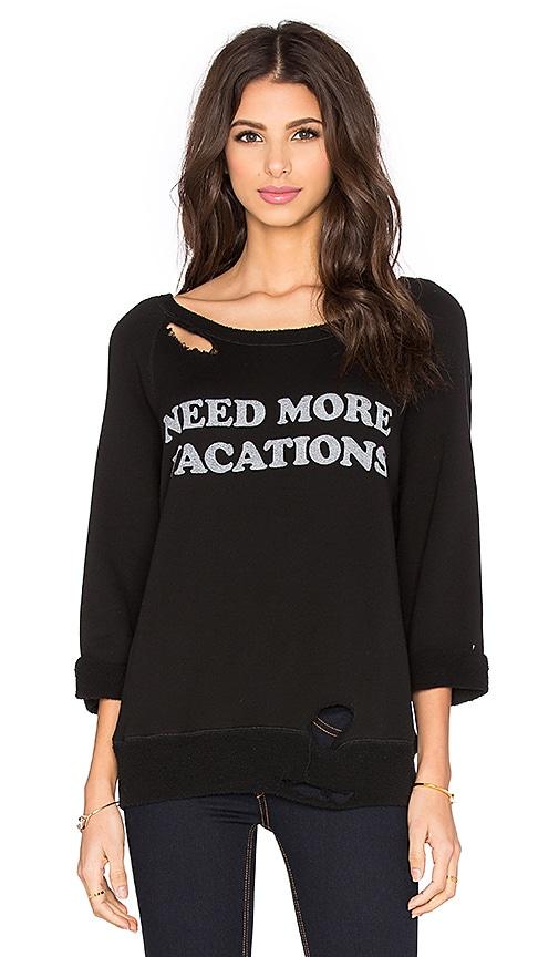DAYDREAMER Need More Vacations Sweatshirt in Black
