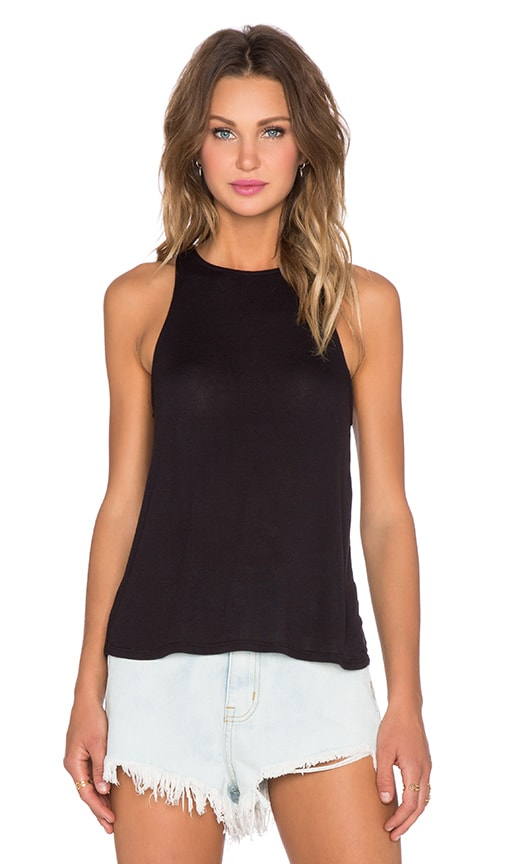 DAYDREAMER Fashion Tank in Black